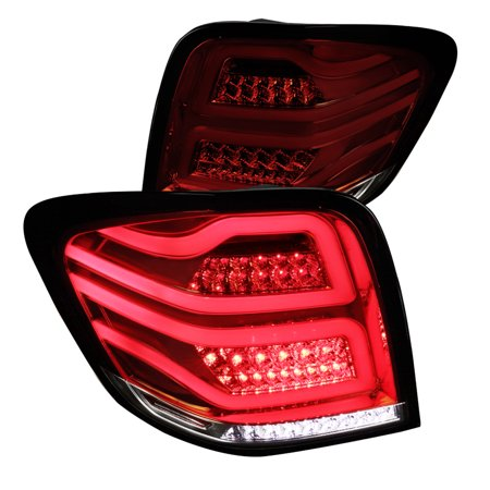 Spec-D Tuning 2006-2011 Mercedes ML-Class W164 Red/Smoke Full LED Brake Lamps Tail Lights Pair 2006 2007 2008 2009 2010 2011 (Left + Right) Class Led Tail Lights Lamps