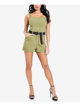 Guess Zip-Front Romper Olive Evening 0