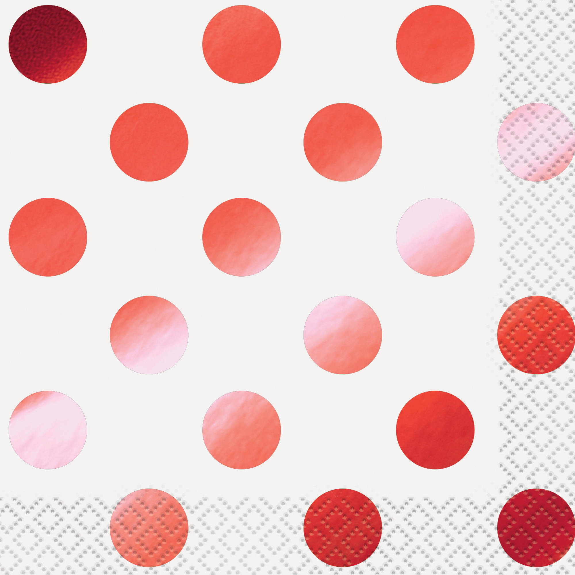 Foil Polka Dot Paper Beverage Napkins, Gold, 16ct