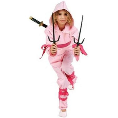 Rg Costumes 29140-M Ninja Girl Costume - Pink, Medium - Pink Ninja
