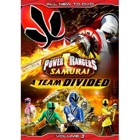 Power Rangers Samurai: A Team Divided Volume 3 (DVD) - Power Rangers Samurai Halloween Games