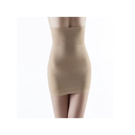 Lady Half Body - MarinaVida Women Tummy Control Shapewear Seamless Hi-Waist Half Slip body shaper Skirt Dress