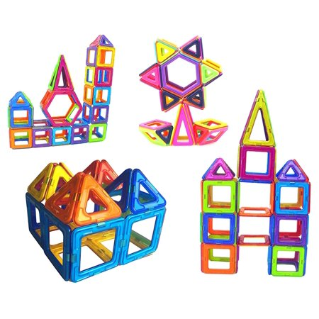 100 PCS 3D Magnetic Building Puzzle Building Blocks STEM Non-Toxic Set Magnet Educational Toys For Kids and