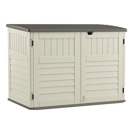 Suncast 70 Cu Ft Stow Away Horizontal Trash Can Shed Bms4700