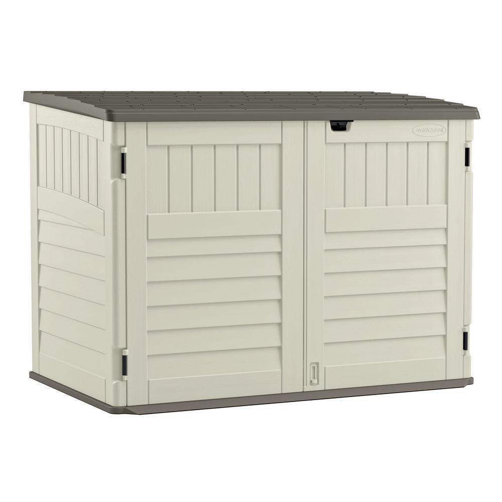 Suncast 70 cu. ft. Stow-Away® Horizontal Trash Can Shed, BMS4700