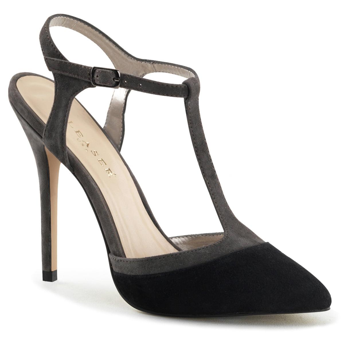 grey suede back strap sandals