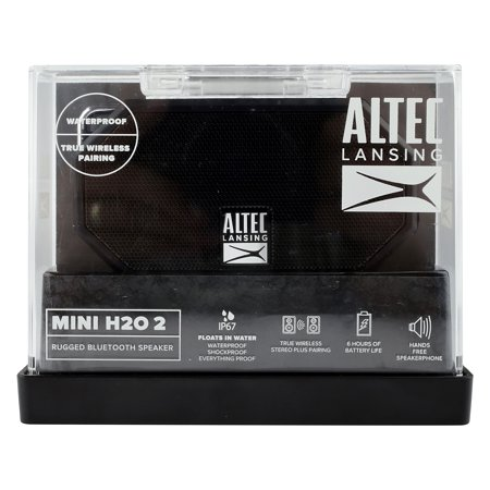 Black ALTEC Mini H2O Rugged Bluetooth Speaker