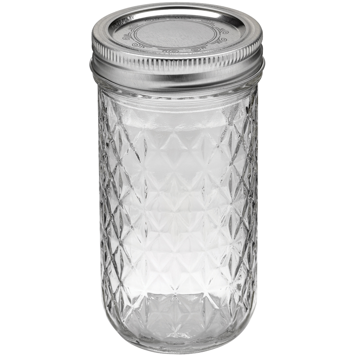 Loew Cornell Ball Quilted Crystal Jelly Jar-12oz - Case P...