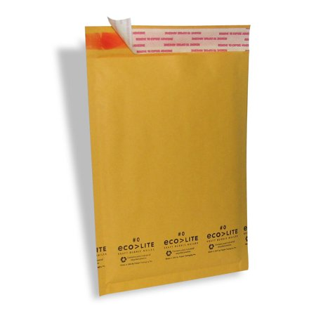 #0 200 6x10 Ecolite Kraft Bubble Mailers Padded Envelopes Bags 6 x 10