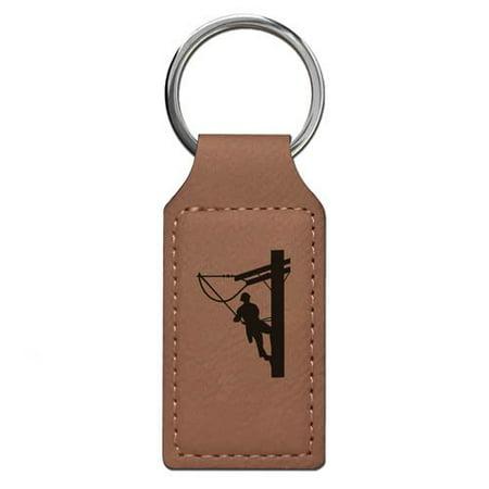 Keychain - Lineman (Dark Brown (Lineman Chain)