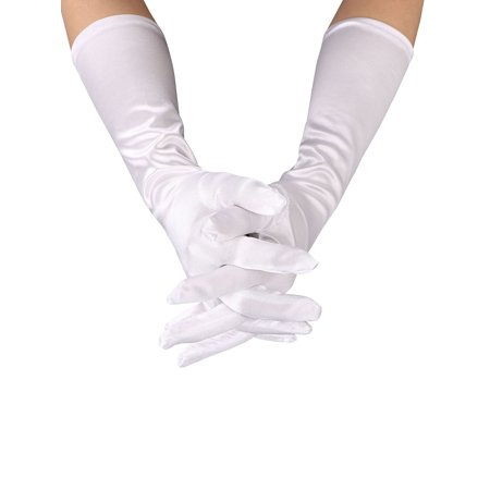 Ladies Bridal 16' Satin Gloves - Women's 15