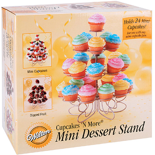 "Wilton Cupcakes 'N More?? 10.5""x9"" Mini Dessert Stand, 24 ct. 307-250"