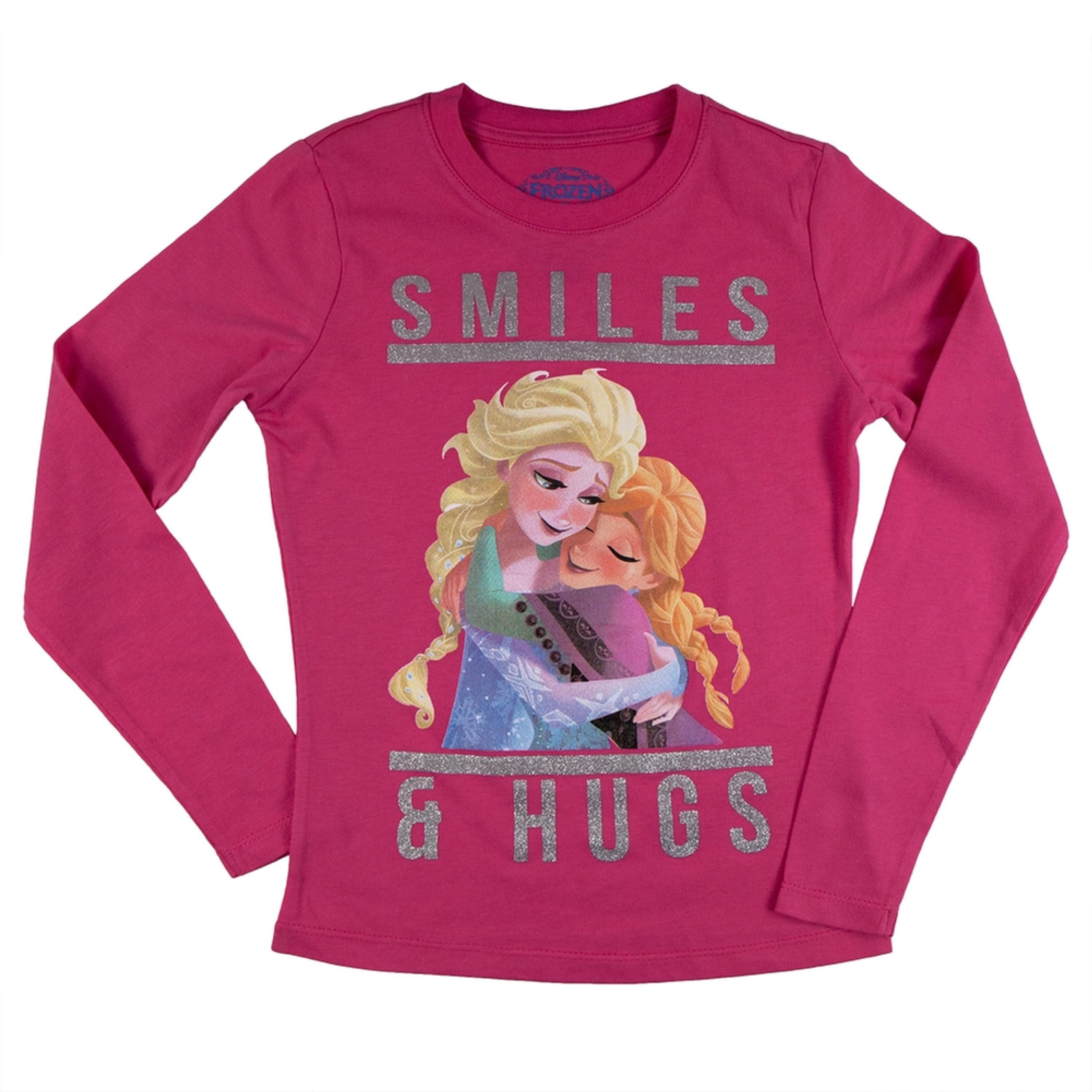Frozen - Smiles & Hugs Girls Juvy Long Sleeve T-Shirt
