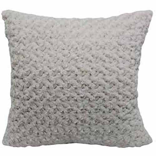 Better Homes and Gardens 22quot; Rosette Plush Pillow, ivory  Walmart.com