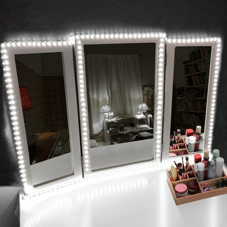 Ships Mirror - Led Vanity Mirror Lights Kit,13ft Flexible LED Makeup Vanity Mirror Light Strip Dimmable Dressing Table Kit DIY Hollywood Style Light