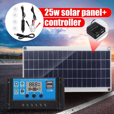 20W 12V Portable Solar TRICKLE Battery Charge car RV camp marine ATV