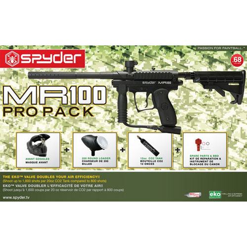 Spyder Paintball MR100 Pro Pack - Black