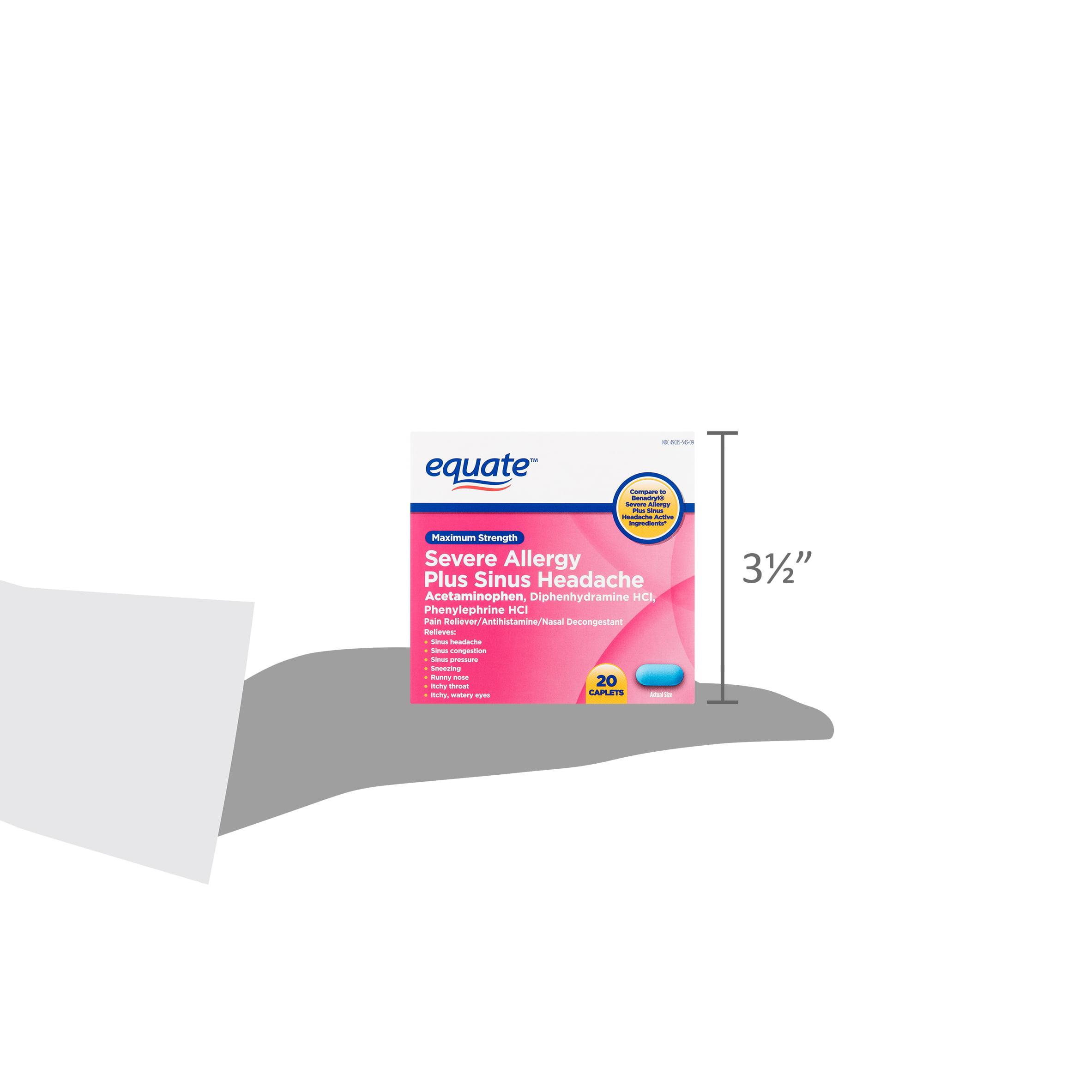 Equate Maximum Strength Severe Allergy Plus Sinus Headache Caplets
