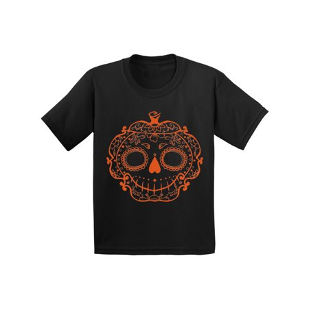 Awkward Styles Halloween Shirts for Kids Cute Sugar Pumpkin Graphic Design T-Shirt for Youth Funny Orange Sugar Pumpkin Halloween T-Shirt - Halloween Pumpkin Designs For Kids