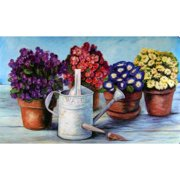 Custom Printed Rugs Watering Can Doormat