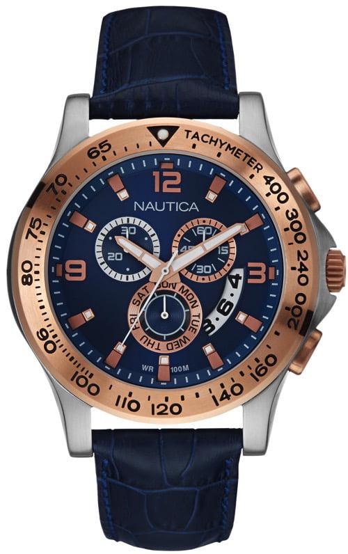 Men's Nautica Blue NST 600 Chronograph Watch NAD19502G by Nautica