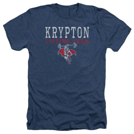 Superman - Krypton Lifting Team Apparel T-Shirt - Blue