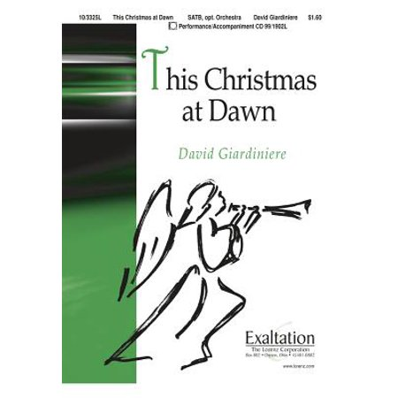 This Christmas at Dawn-Sac Anthem - SATB,Piano - Full Orch,P/A CD - David Giardiniere - Sheet Music -