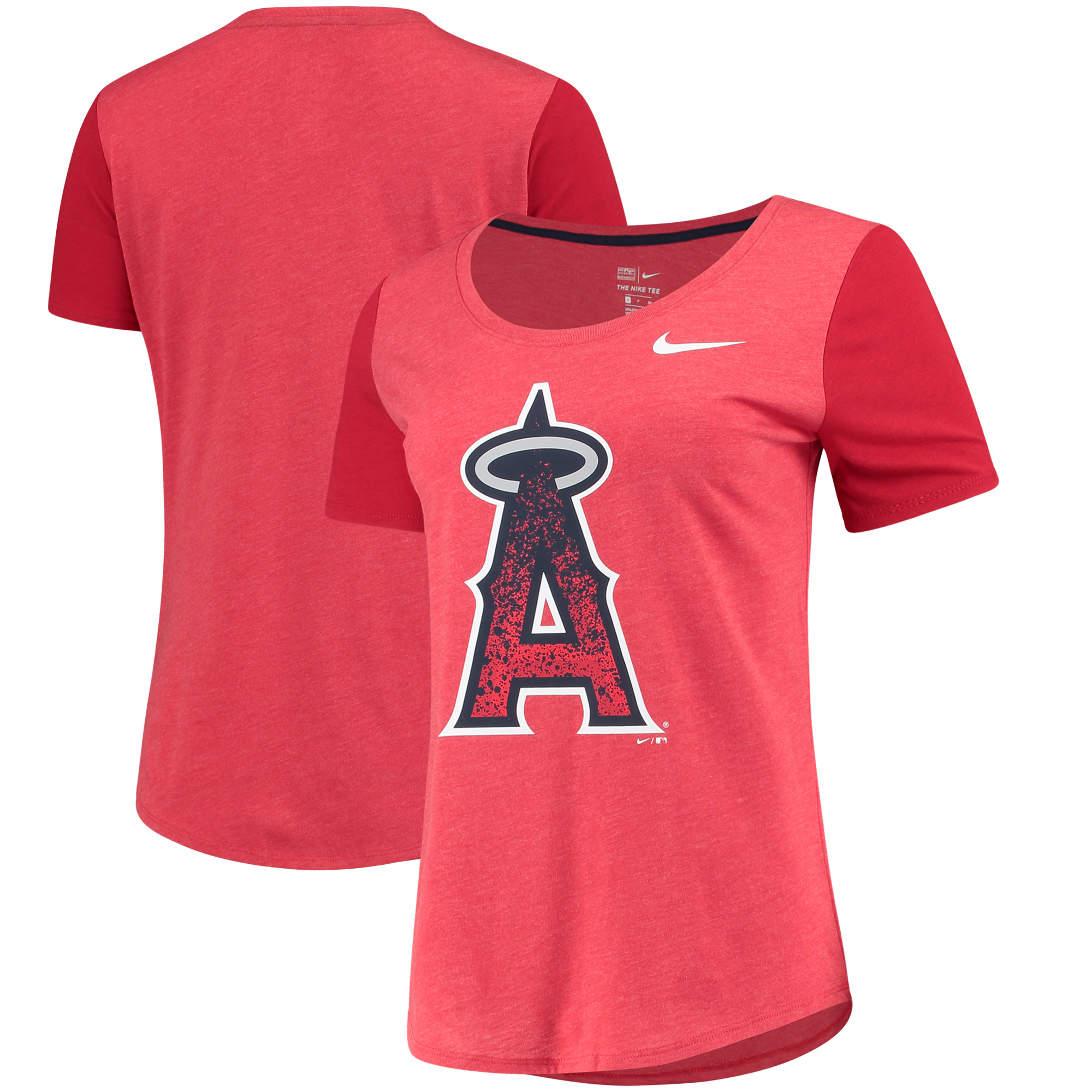 Los Angeles Angels Nike Women's Tri-Blend Scoop Neck T-Shirt - Red