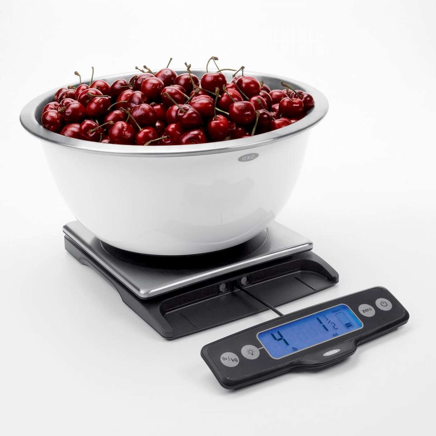 OXO Good Grips Stainless Steel Food Scale with Pull-Out Display, 11 ...