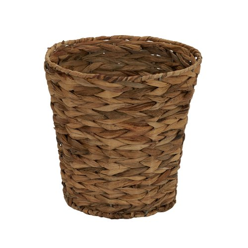 Household Essentials Banana Leaf 6-Gallon Trash Can, Natural