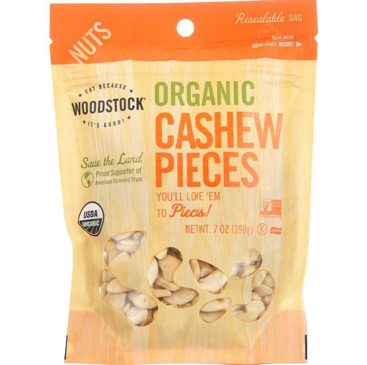 Woodstock Nuts - Organic - Cashews - Pieces - Raw - Fancy...