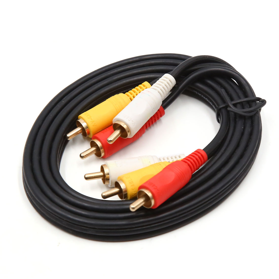 1.5m 3RCA to 3RCA Male to Male Composite Audio Video AV Extention Cord Cable