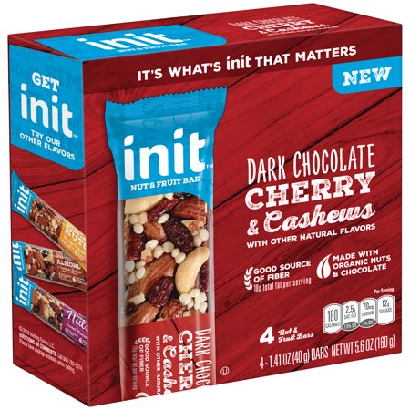 Init Bars Cherry & Cashews Dark Chocolate 4-1.41 oz. Bars ...