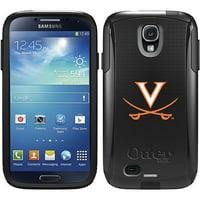 University of Virginia Swords Orange Design on OtterBox Commuter Series Case for Samsung Galaxy S4