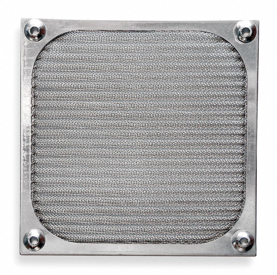 Aluminum Fan Filter Guard Assembly, 1 EA,For Fan Size (In.) 2-3/8
