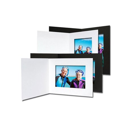 Event Photo Folders For 4x6 Horizontal Black (25 Pack)