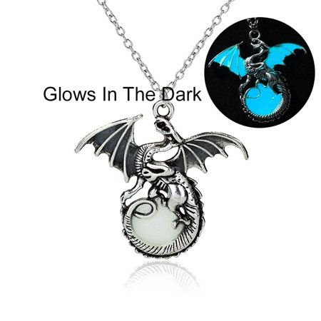 Dragon Glow In The Dark Necklace - Ginger Lyne Collection (Glow In Dark Necklaces Wholesale)
