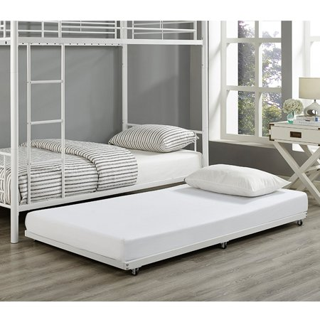 White Twin Roll-Out Trundle Bed Frame - Walmart.com