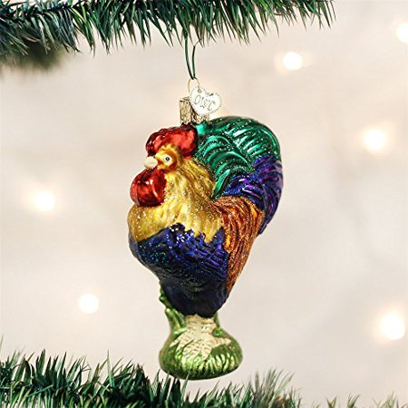 Christmas Heirloom Ornaments - Old World Christmas Heirloom Rooster Glass Blown Ornament