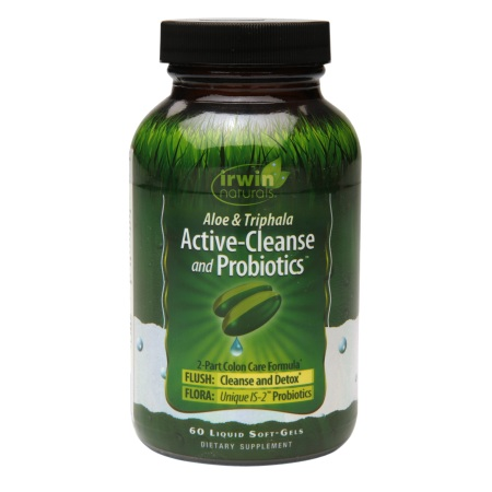 Irwin Naturals Active-Cleanse & Probiotics, Soft-Gels 60.0 ea(pack of 6)