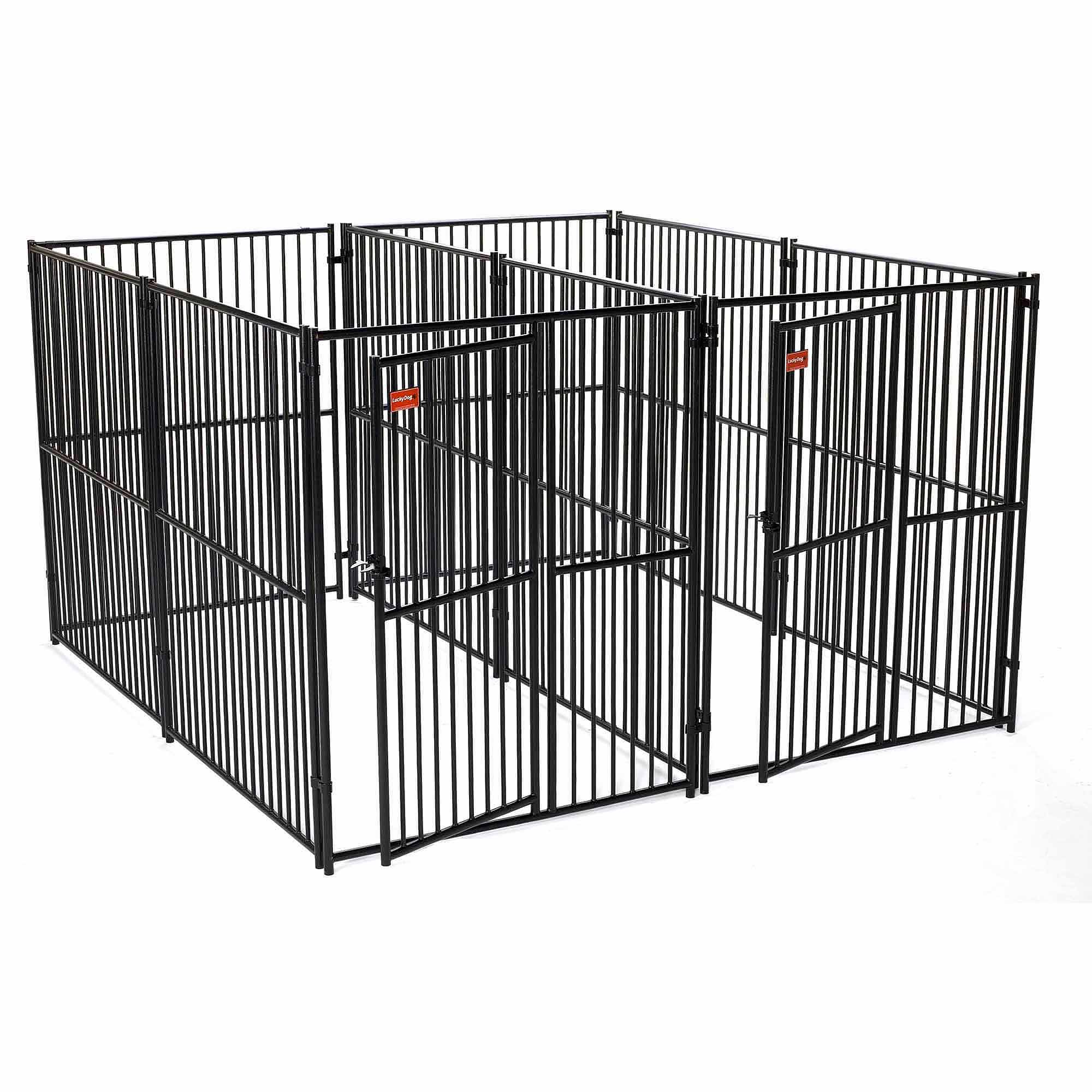 Lucky Dog European Style 5' x 10' 2-Run Kennel with Common Wall