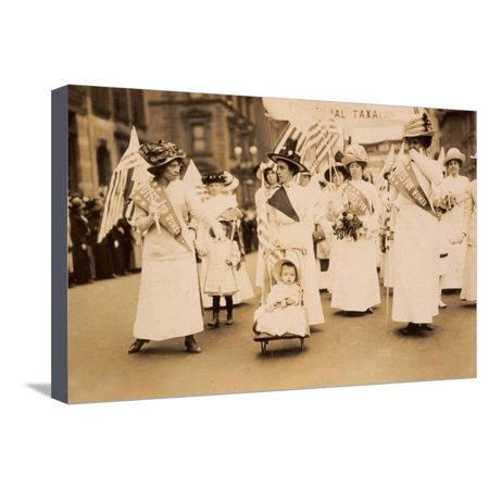 Suffrage Parade NYC 1912 Stretched Canvas Print Wall Art](Nyc Halloween Parade Map)