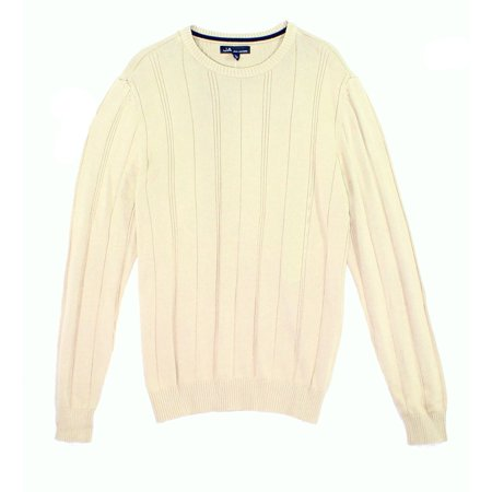 - NEW Toasted Beige Men Size Medium M Crewneck Ribbed Sweater