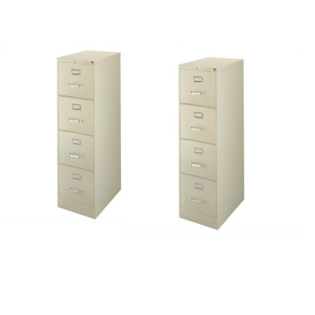 2500 Series 2 Piece Value Pack 4 Drawer Letter File Cabinet in Putty