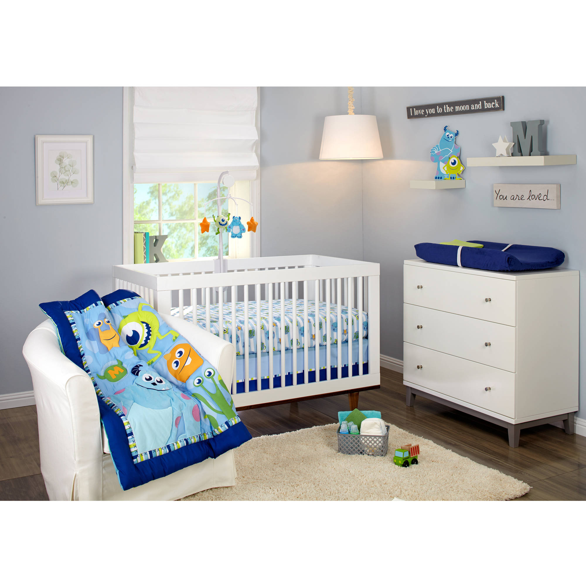 Disney Monsters On the Go 4-Piece Crib Bedding Set