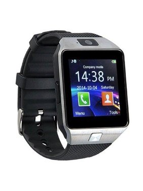 DZ09 Bluetooth Smart Wrist Watch With Health Monitoring Calls Texts For Android and iPhone - SILVER