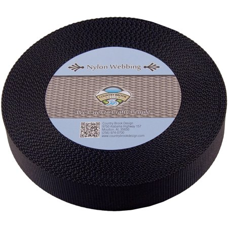 - Country Brook Design | 1 1/2 Inch Black Heavy Nylon Webbing