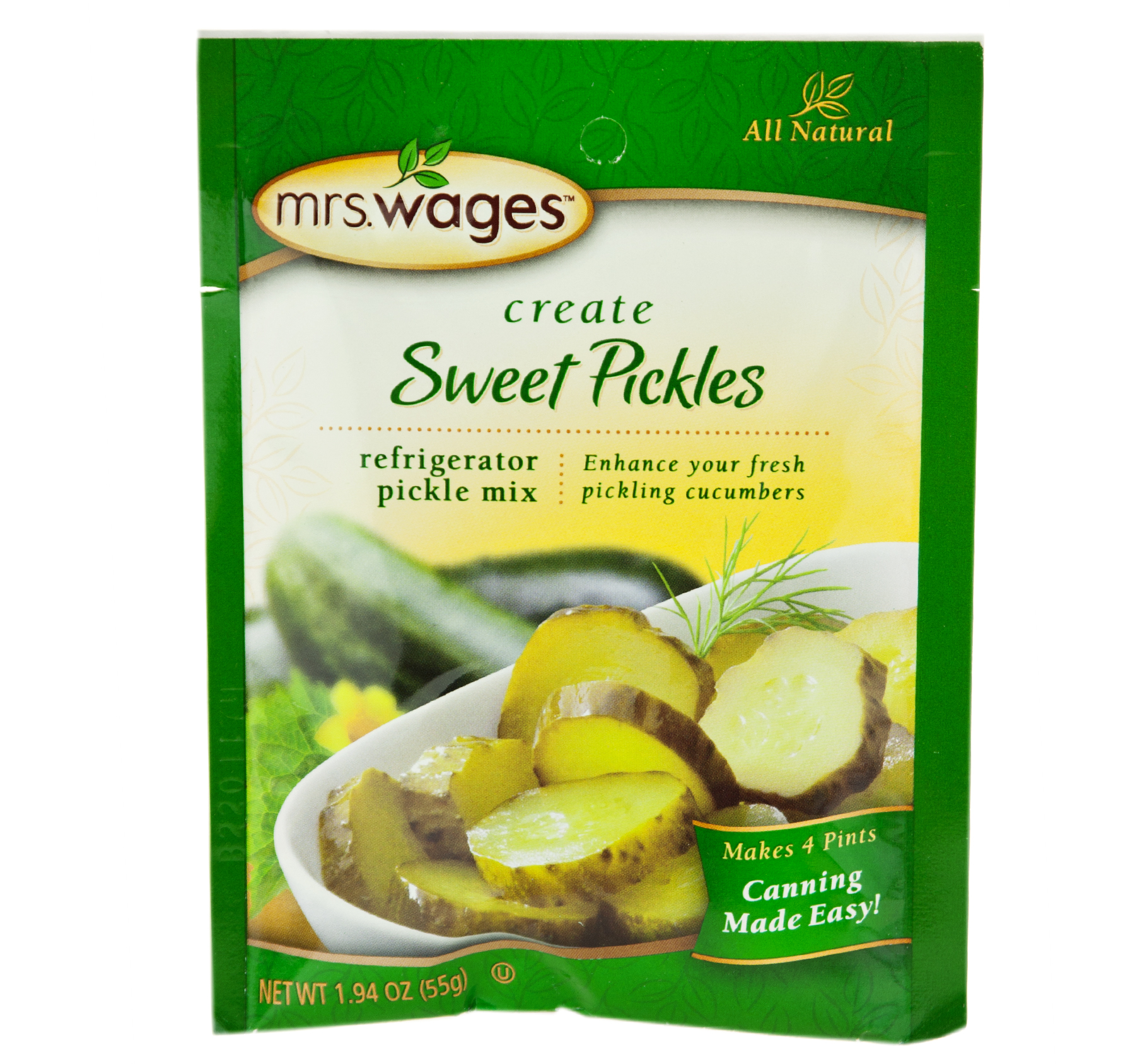 Mrs. Wages Sweet Pickles Refrigerator Mix 1.94 oz. (6 Packets)