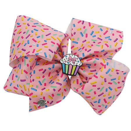 JoJo Siwa Large Cheer Hair Bow (Pink Cupcake Center)