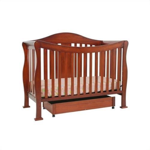 DaVinci Parker 4-in-1 Convertible Crib in Cherry with Crib Mattress